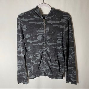 Monrow Jackets & Coats - Monrow Zip Up Camo Hoodie